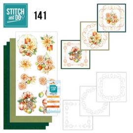 Stitch and Do 141 - Jeanine's Art - Salmon Christmas Baubles STDO141
