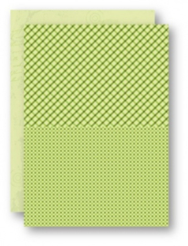 Doublesided background sheets A4 green squares NEVA027