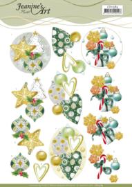 3D Cutting Sheet - Jeanine's Art - Christmas Baubles CD11584