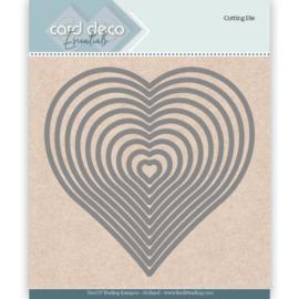 Card Deco Essentials Cutting Dies Heart CDECD0024