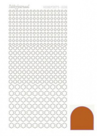 Hobby dots sticker mirror Copper 008 STDM08B