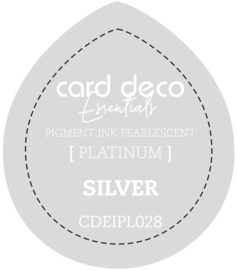 Card Deco Essentials Fast-Drying Pigment Ink Pearlescent Silver CDEIPL028