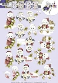 3D Knipvel - Precious Marieke - Kerstpoppetjes CD10710