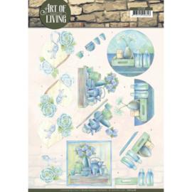 3D knipvel - Jeanine's Art - Art of Living - Blue Art CD11208