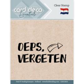 Card Deco Essentials - Clear Stamps - Oeps, vergeten CDECS023