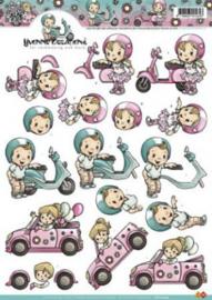 Yvonne Creations - Rijbewijs auto en scooter CD10244