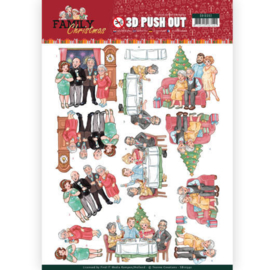 3D Pushout - Yvonne Creations - Family Christmas - Happy Family SB10392