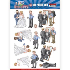3D Push Out - Yvonne Creations - Big Guys - Workers - Well Dressed SB10449
