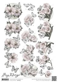 3D Knipvel - Amy Design - Condoleance bloemen CD10727