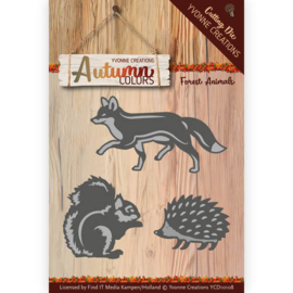 Die - Yvonne Creations - Autumn Colors- Forest Animals YCD10108