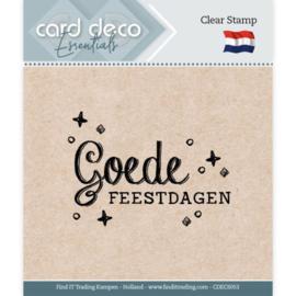 Card Deco Essentials - Clear Stamps - Goede Feestdagen CDECS053