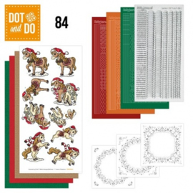 Dot and Do 84 - Yvonne Creations - Kerstpaarden DODO084