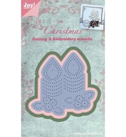 Joy Snij- embossing- borduurmal kerst 6002/2024