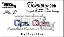 Crealies Tekststans - opa oma 11 x 22 - 9 x 25 mm / CLTS37 115634/3137