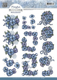 3D Knipvel - Yvonne Creations - Playful Winter - Snowflowers CD10431