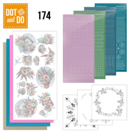 Dot and Do 174 - Yvonne Creations - Flowers in Pastel DODO174