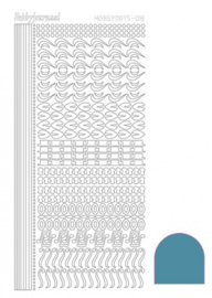 Hobby dots sticker Mirror Turquoise 018 STDM18D
