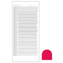 Hobbydots sticker - Mirror red 020 STDM204