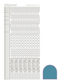 Hobby dots sticker Mirror Turquoise 017 STDM17D