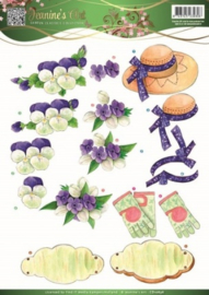 3D Knipvel - Jeanines Art - Garden Classics - Purple Flowers CD10836