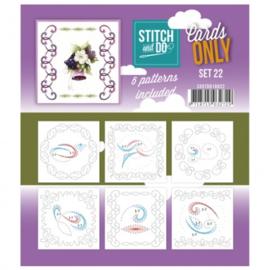 Stitch & Do - Cards only - 4k -  Set 22 COSTDO10022