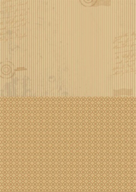 Doublesided background sheets A4 brown stripes NEVA004