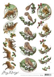 3D Cutting Sheet - Amy Design - Christmas Animals CD11532