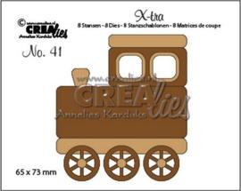 Crealies X-tra no. 41 Trein (middel) CLX-tra41 65x73mm