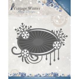 Die - Amy Design - Vintage Winter - Snowflake Swirl Label ADD10124