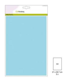 1 PK (1 PK) Papiervel-CV lichtblauw 5 ST A4 90GR 001345/0051