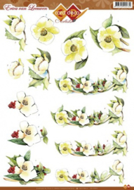 3D A4 knipvel - CD10351- Erica van Leeuwen bloemen