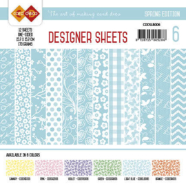 Card Deco - Designer Sheets - Spring Edition lichtblauw CDDSLB006