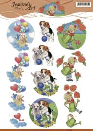 3D cutting sheet - Jeanine's Art - Kids  CD11095