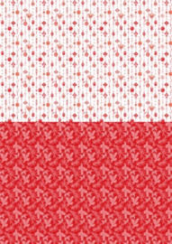 Background sheets A4 Christmas red ornaments NEVA034