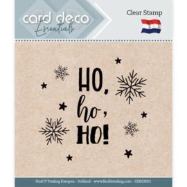 Card Deco Essentials - Clear Stamps - Ho, ho, ho CDECS051