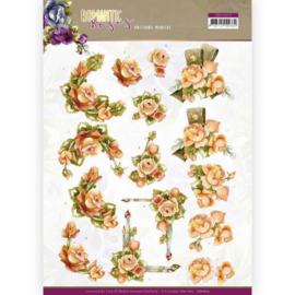 3D cutting sheet - Precious Marieke - Romantic Roses - Orange Rose  CD11612
