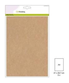 1 PK (1 PK) Papiervel-CV kraftbruin 5 ST A4 90GR 001345/0720