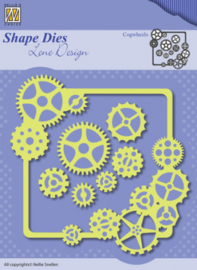Nellies Choice Shape Dies - Lene Design - Men things - Cogwheels SDL038