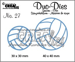 Crealies Duo Dies no. 27 volleyballen 30x30mm-40x40mm / CLDD27 115634/0727