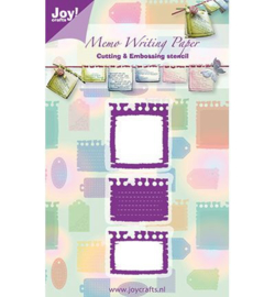 Joy crafts snij- en embossingmal memo 6002/0247