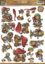 3D Knipvel - Yvonne Creations - Fall Favourites - Sweet Gnomes CD10557