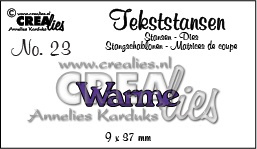 Crealies Tekststans no. 23 Warme (NL) 9x37mm / CLTS23 115634/3123