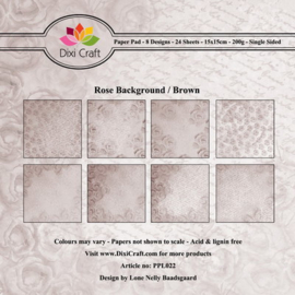 Dixi PaperPack 15x15 cm rose background brown PPL022
