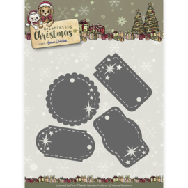 Die - Yvonne Creations - Celebrating Christmas- Star Tags YCD10110