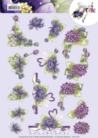 3D Cutting Sheet - Precious Marieke - Purple Dahlias CD11315