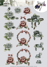 3D cutting sheet - Precious Marieke - All kinds of roses  CD11450
