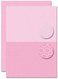 Decoupage sheet - Doublesided - Pink - Babyboy-flowers NEVA081