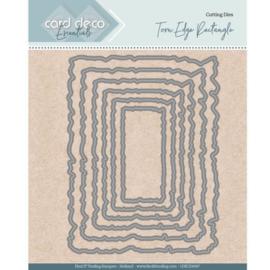 Card Deco Essentials - Nesting Dies - Torn Edge Rectangle CDECD0097