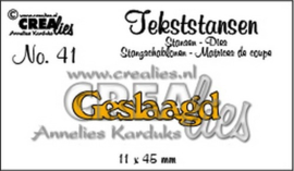 Crealies Tekststans no 41 Geslaagd (NL) 11 x 45 mm / CLTS41 115634/3141