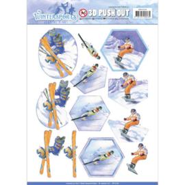 Pushout - Jeanine's Art - Wintersports - Snowfun SB10230